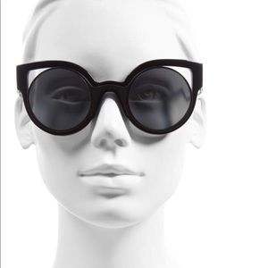 Fendi Cat Eye Sunglasses Black